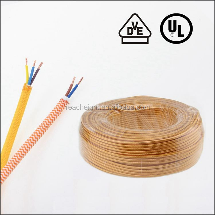 Ul Listed 18awg Cloth Covered Wire Pendant Hanging Light Lamp Cord ...