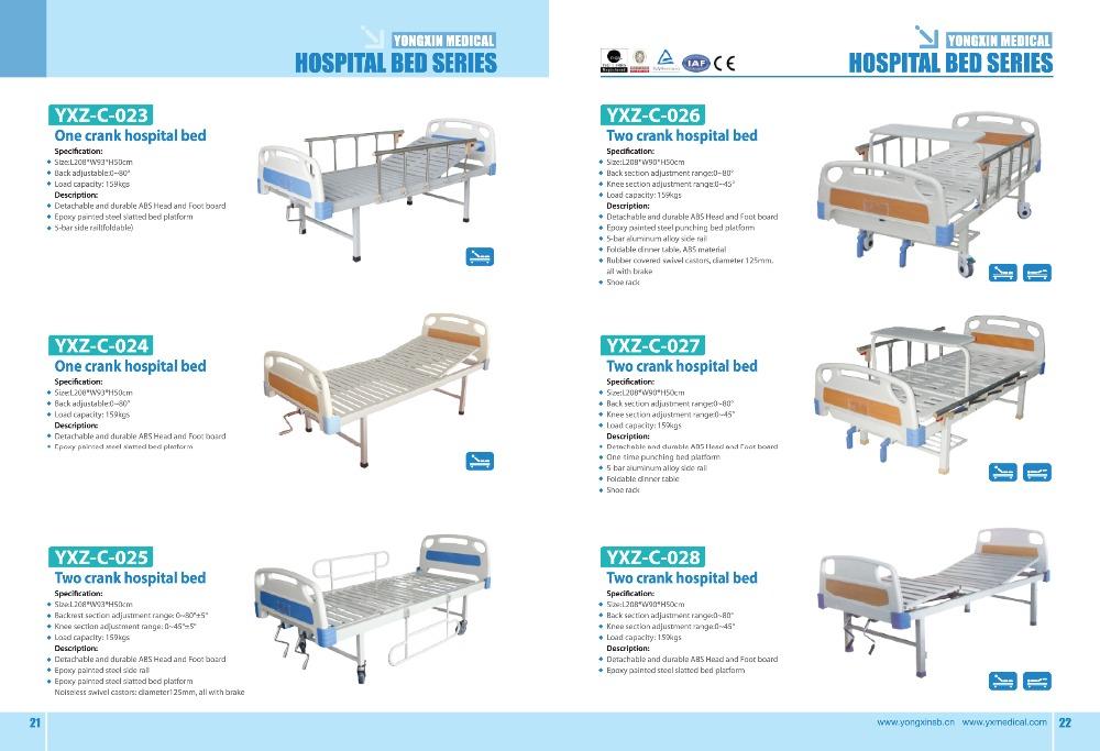 Nuevo tipo tres manivela manual cama de hospital yxz c 012 for Tipos de cama