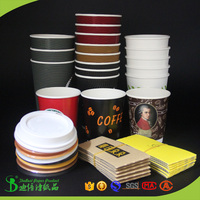 TheBEST Popular free set up paper cups sleeves & lids