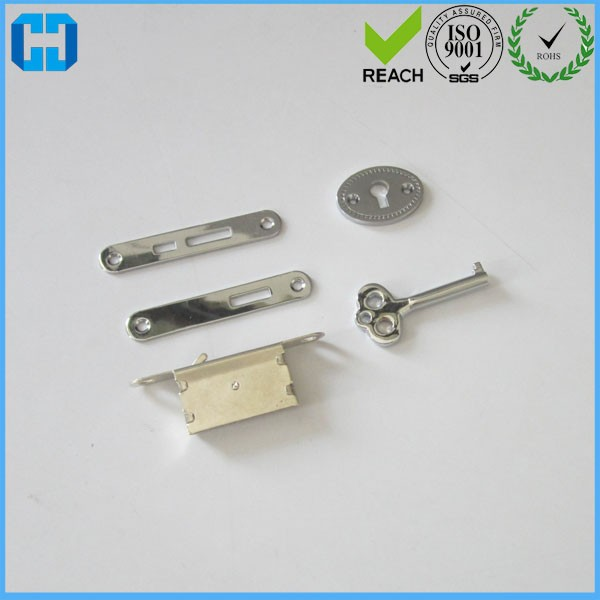 TK Silver Plated Box Lid Plates And Key Lock For Jewelry Box