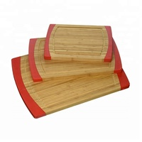 Non-Slip Kitchen Bamboo Silicone Cutting Board
