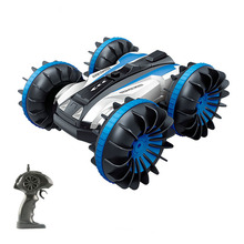 Bricstar water and land remote control car, amphibious vehicles 360 degree double sided driving RC 4WD car toy