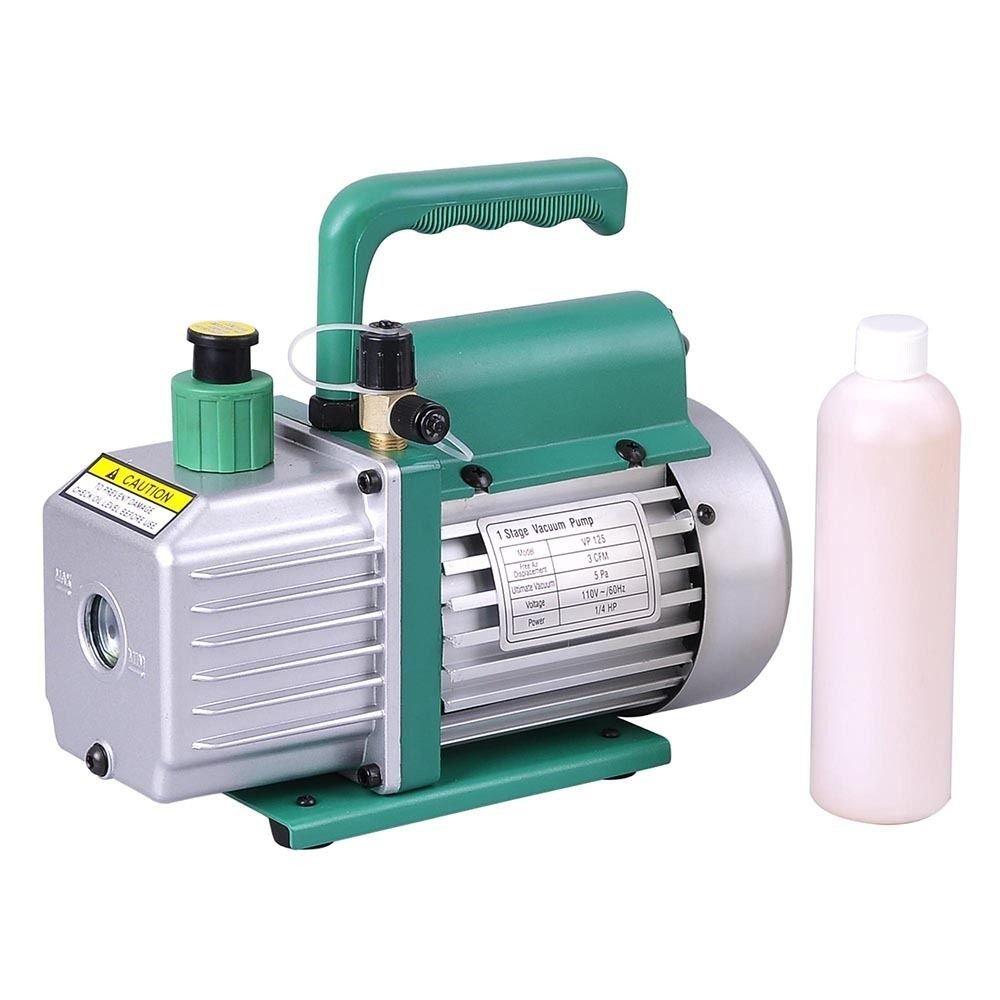 Generic NV_1008004081_YC-US2 <8&40811> igerantuum Pump AC Deep Vacuum Pump 3 CFM 1/4HP AC A/C HVAC Rotary Vane Air Refrigerant 3 CFM 1/4HP