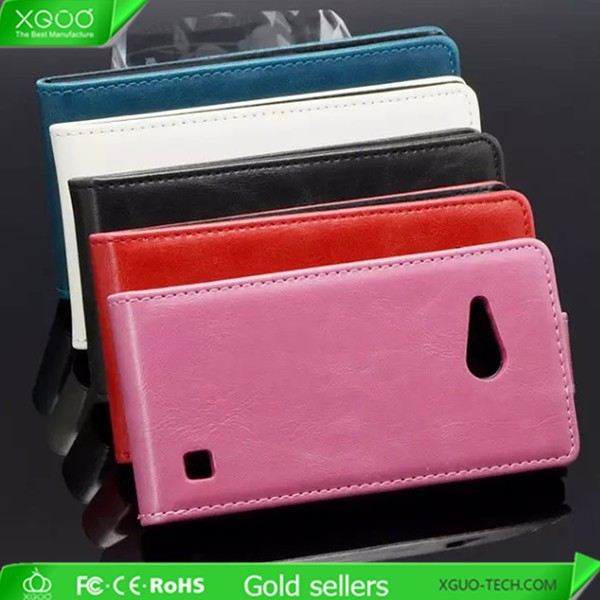 leather phone cover case for nokia lumia 730