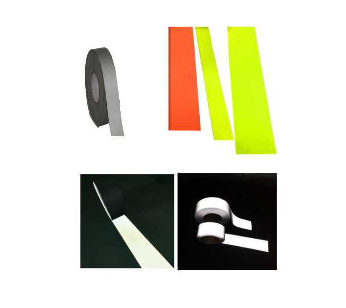 best light black reflective fabric strips material tape for reflective clothes