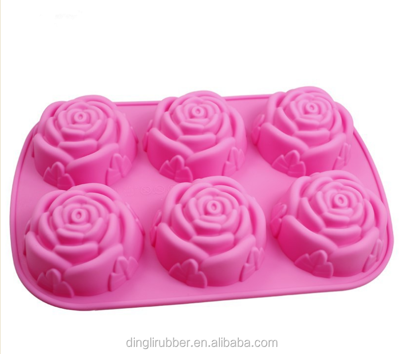 Factory directly flower shaped silicone cake molds soap mold