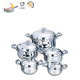 New item cookware kitchen accessories mirror polishing belly shape waterless cookware set