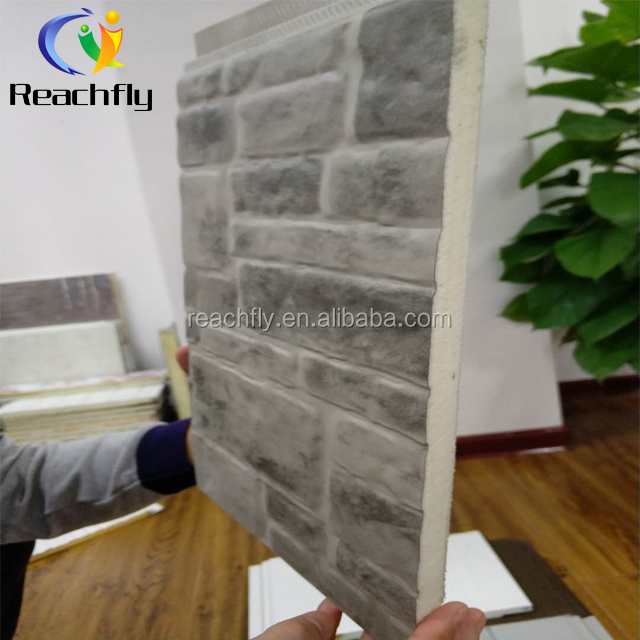 China dekoratives 3d Wandpanel PU-Fassadenaußen-Sandwichwandpanel