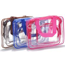 패션 투명 메이 컵 bag pvc washing bag cosmetic bag <span class=keywords><strong>3</strong></span> sets