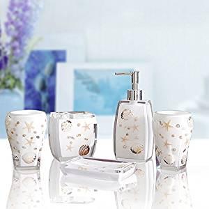 M&CLotion Bottle Tumbler Toothbrush holder Soapbox European resin bathroom suite