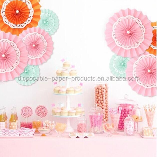 2015 Yiwu Birthday Party Idea Paper Rosettes Pinwheel Diy