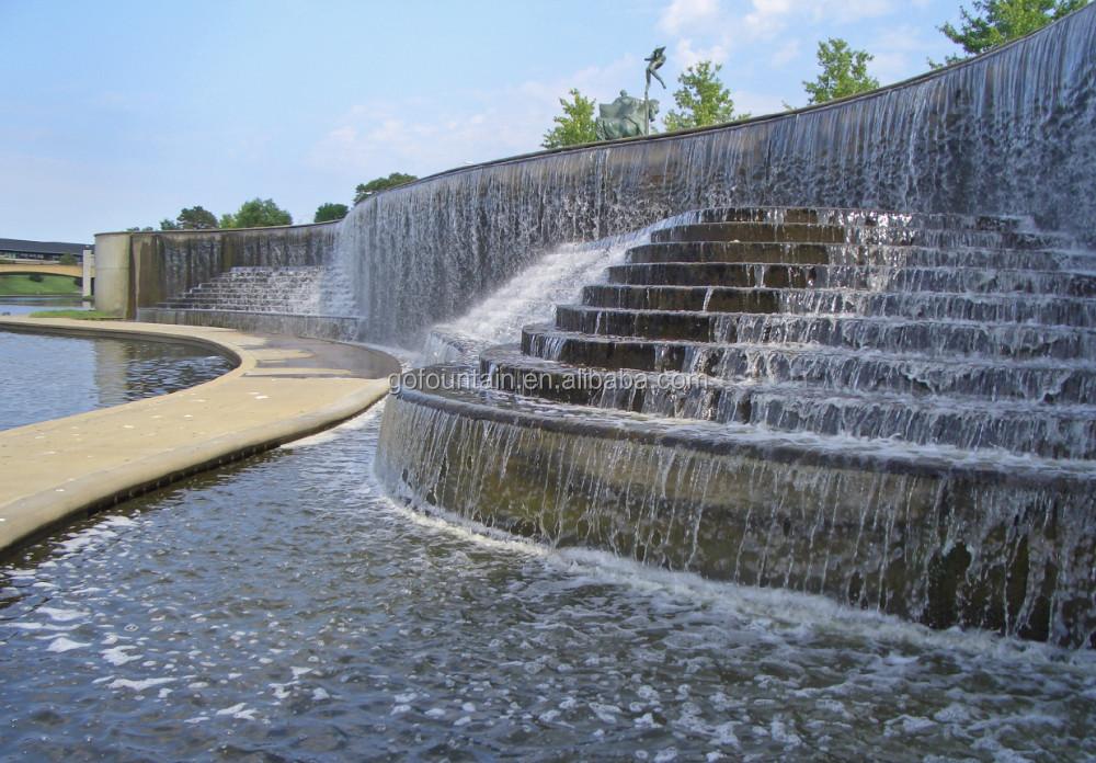 Muur Fontein Outdoor Water Muur Kunstmatige Indoor Waterval Fontein Met LED Verlichting