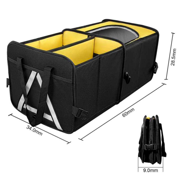 Osgoodway New Arrival Good Quality Wholesale Large Auto Collapsible Multifunction Trunk Back Car Seat Organizer