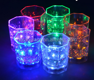 170ML Colorful Flashing Led Light cup Magic Led Champagne Glass Flash Wine Beer Bar Mug Drink Cup for Party Wedding KTV