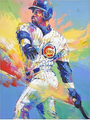 Sammy Sosa Chicago Cubs White Strips Original Artwork - Fanatics Authentic Certified - Autographed MLB Art