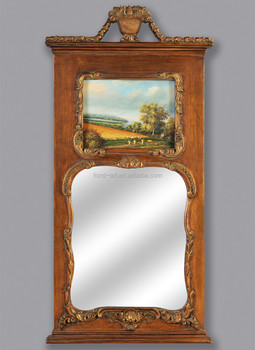2102 Home Antique Decorative Framed Plastic Wall Mirror With Oil Painting Buy Wall Decorative Mirror Living Room Decorative Mirror Antique