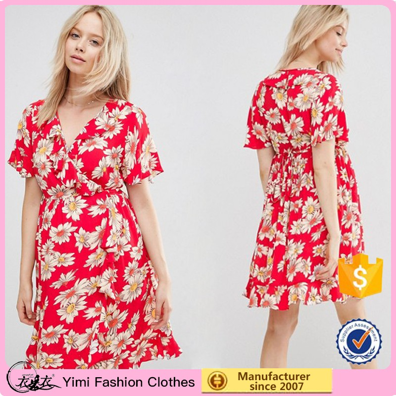 587bdc65934f1 Daisy Printed Maternity Dress Breastfeeding Summer Dress For ...