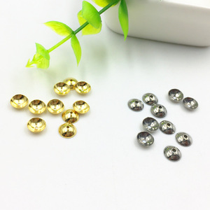 S1055 High Quality Gold Plated Stainless Steel Bead End Caps,Jewelry End Caps