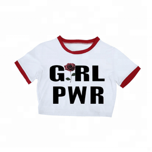 OEM custom girls printed different colors t shirt women