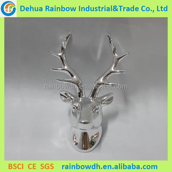 Hot selling silver christmas deer antler decor