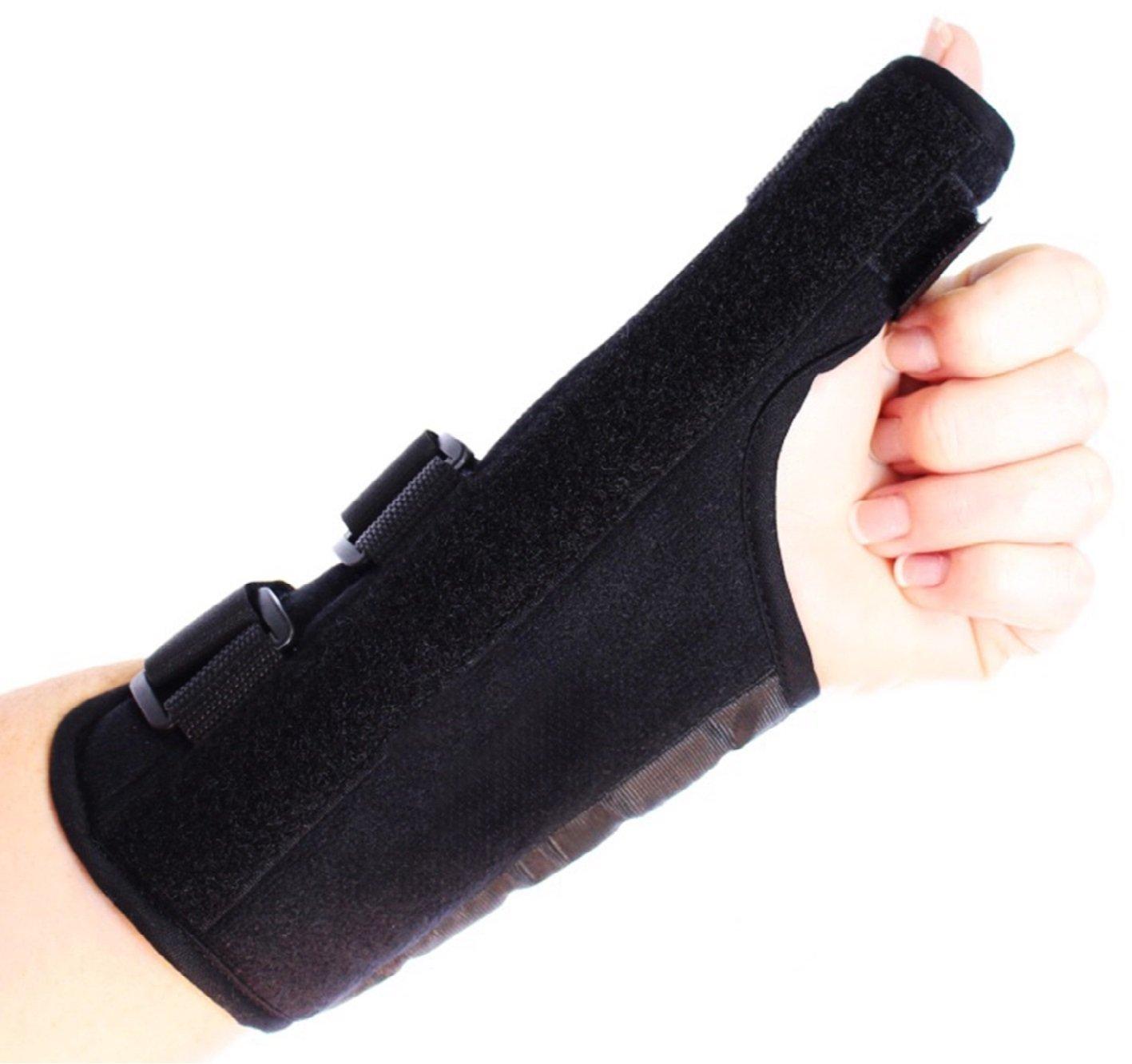 Comfort Care Thumb Support Brace - Left Hand - Fitness - Rheumatoid Arthritis - Training - Health - Beauty - Men - Women - Hands - Treatment - Exercise - Joint - Wellness - Muscle - Hurt - Severe - Aching - Swollen - Painful - Personal - Sore - Remedies - Rheumatism - Finger - Aids - Relief -