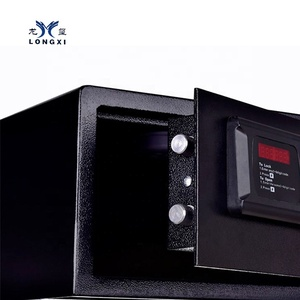 20years experience on hotel safe with digital lock black color room safety box hotel deposit box in wardrobe