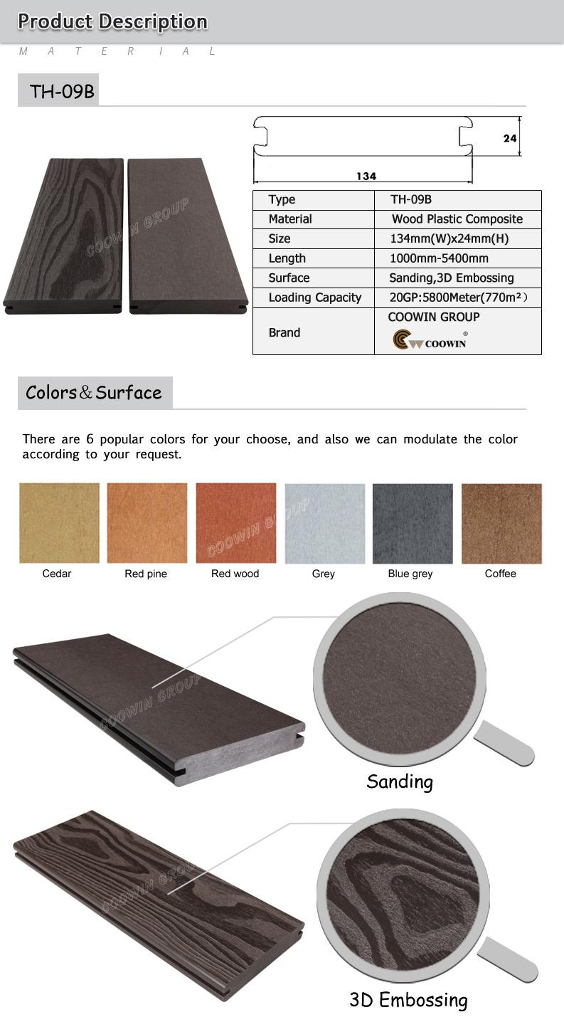 Coowin brand new composite ipe wood decking solid buy for Composite decking brands