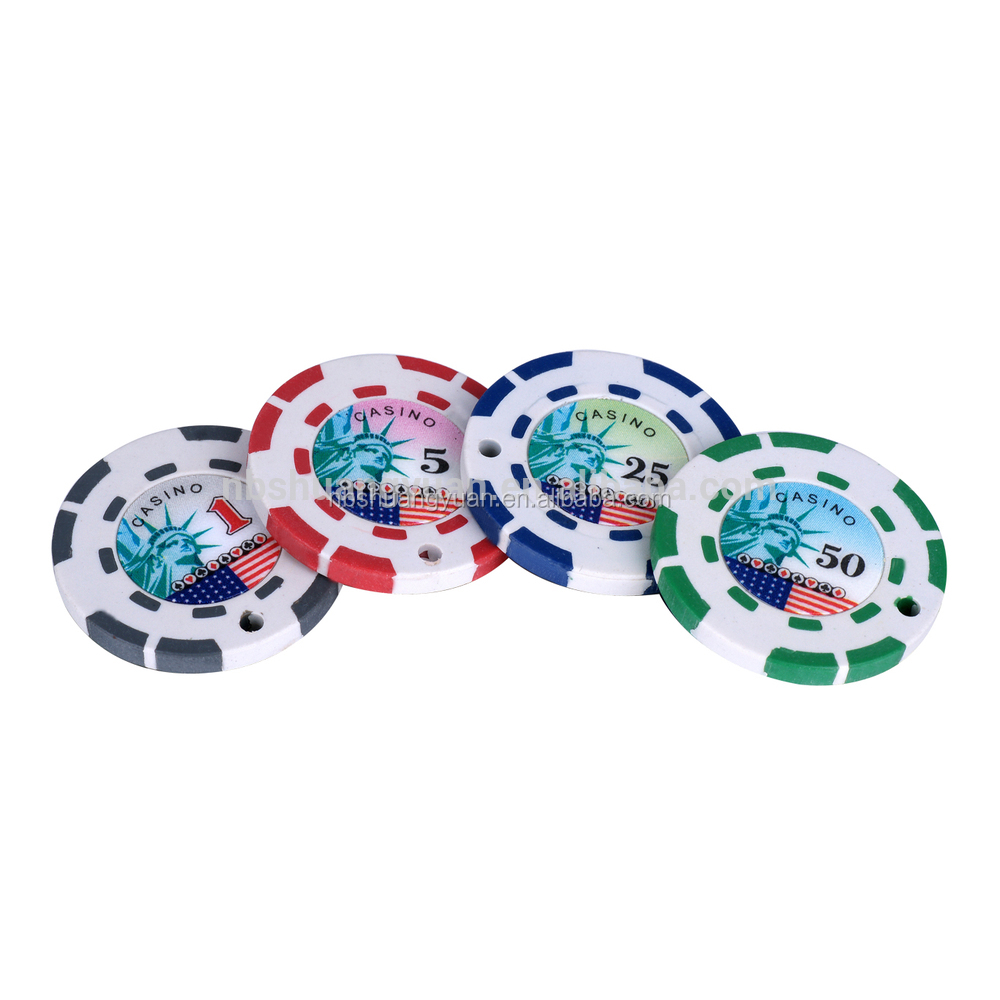 2.5g 2-Tone 8-Stripe Mini Poker Chip With Custom Sticker