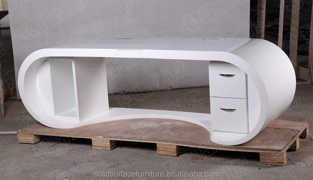 Made In China Commercial Furniture Table White Gloss Office Desk