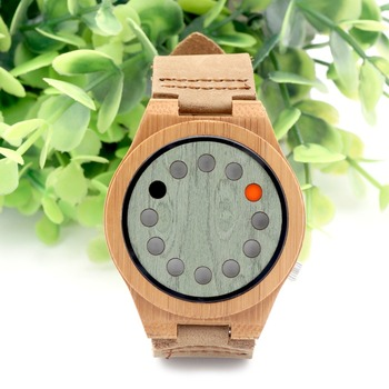 mens vintage sports bamboo watch hand made wood watch as birthday gift
