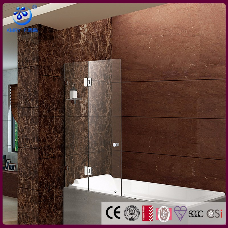 KD3204T bisagra sin marco plegable Pantalla de ducha bañera de ducha de vidrio