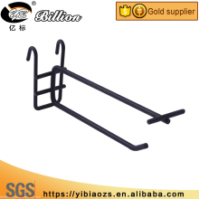 Metal hanging hook black wire hook supermarket gridding display
