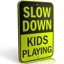 Hot Sale Please Slow Down Custom Reflective Traffic Safety Sign Board
