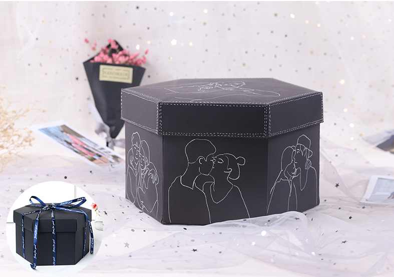 Wholesale Surprise Cardboard Paper Packaging Gift Explosion Box