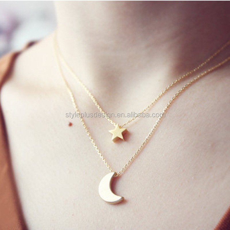 Fc705 south korean star moon pendant necklace collarbone chain fc705 south korean star moon pendant necklace collarbone chain sweater necklace tanishq gold pendant designs for aloadofball Choice Image