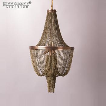Meerosee New Product Aluminum Chain Light Fixture Decorative Bronze Hanging Pendant Lamp For Home Restaurant Md86024