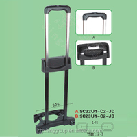 Guangzhou JingXiang Telescopic Luggage Extendable Handle Parts Metal Suitcase Handle For Luggage Waist Bags