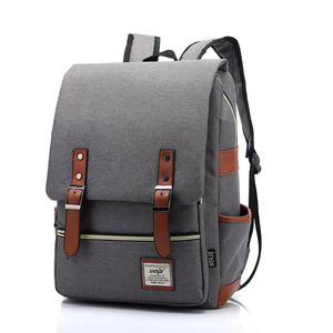 China vintage bagpack mens back packs college school back bags retro cheap blank canvas backpack