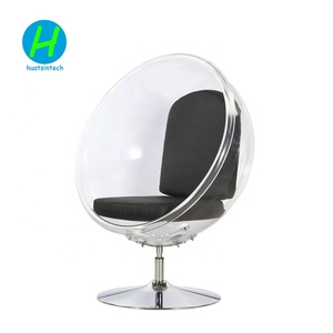 Hot Sale Clear Acrylic 360 Degrees Rotating Bubble Chair with Customized Cushion