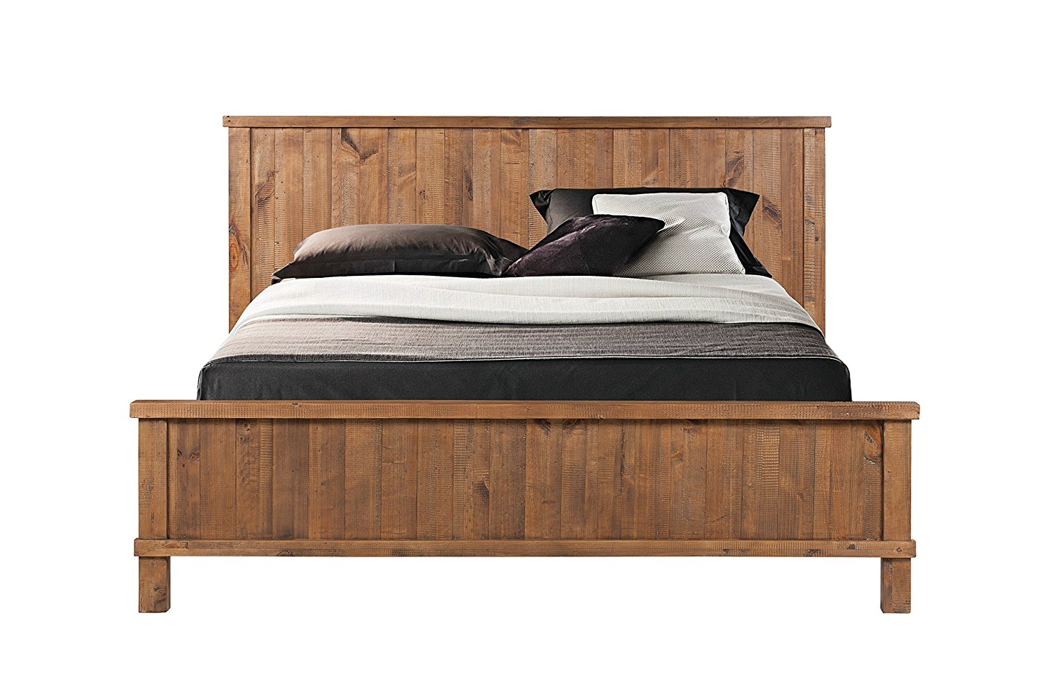 Get Quotations · CDI Furniture LI1084QWP Country Collection Rustic Pine  Wood Traditional Country Queen D Bed, Weathered Pine