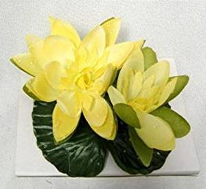 Floating Silk Water Lily YELLOW Pond Fountain Wedding Lilies Centerpiece Flowers