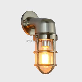 Aluminum Nautica Wall Lamp Matt Nickel Retro Sconce For Outdoor Marine Light