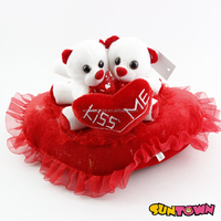 kiss me plush bear heart plush bear wedding bear
