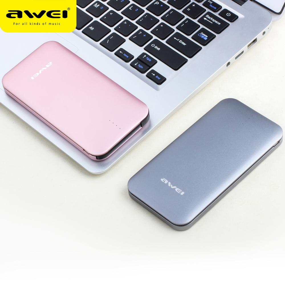 Awei P20K 8000mAh 3.0A Fast Charging ROHS Certificated OEM Power Bank