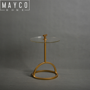 Mayco NEW Modern Design Fancy Coffee table Golden Metal Acrylic Side table