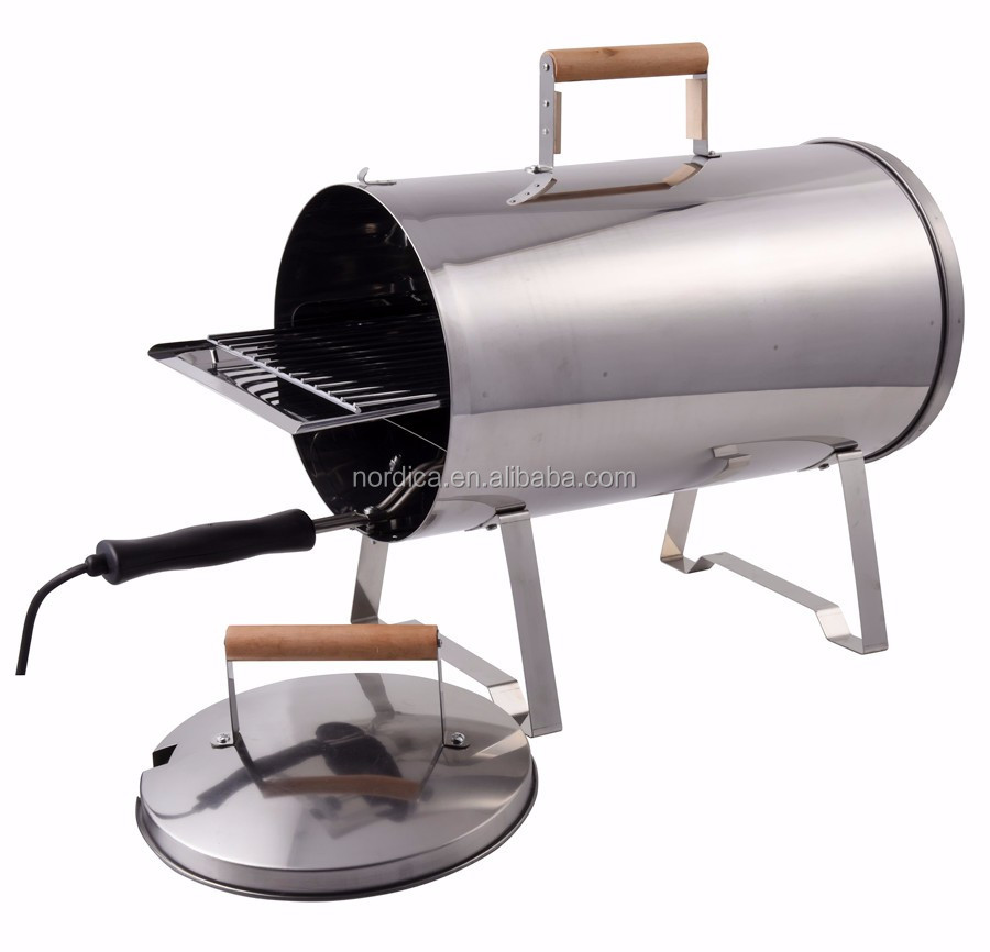 Electric wood pellet smoker bbq grill stainless steel fish for Smoking fish electric smoker