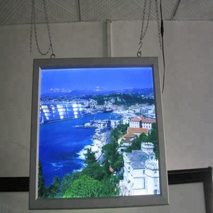 ceiling hanging aluminum frame led light boxes double sides light box 2 sided hanging from ceiling light box