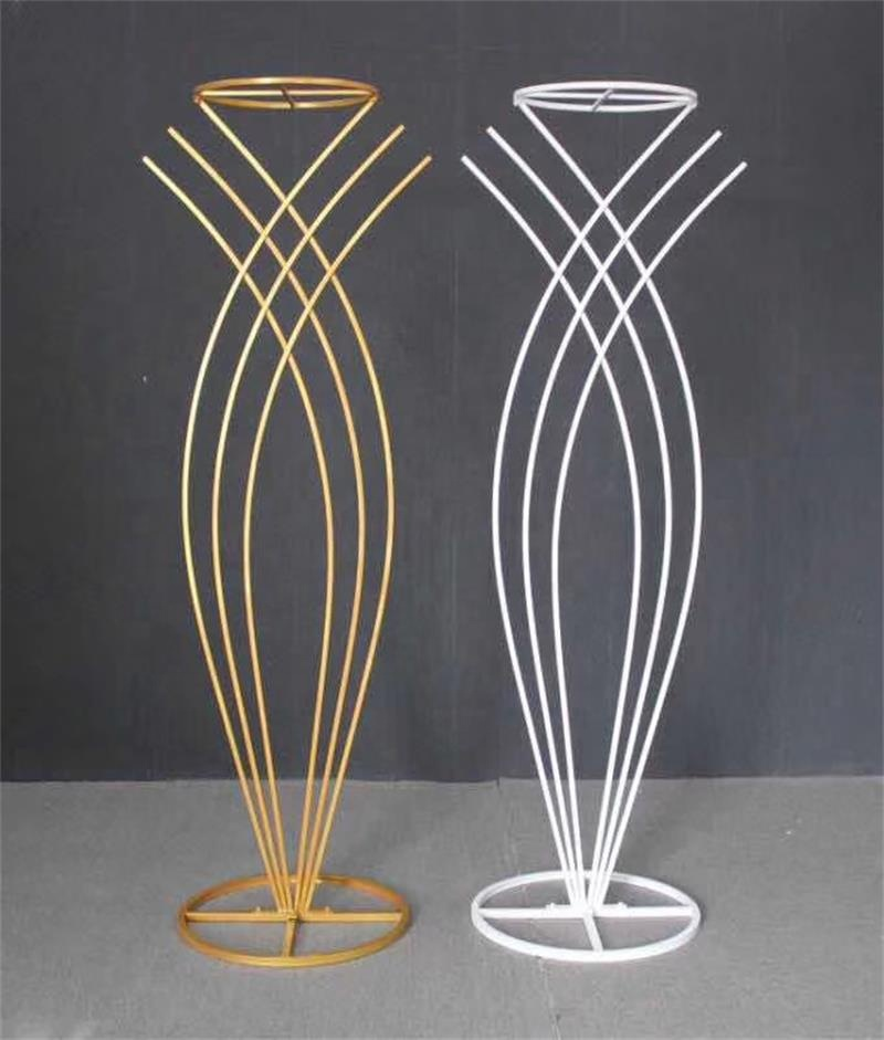 Metal flower stand for wedding party event decoration, wedding walkway, wedding table centerpiece