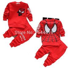new 2015 spring autumn baby boys clothing sets spiderman children sport suit kids clothes tracksuits 2pcs cotton t shirt+pants