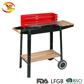 Red Windshield Trolley Ndoor Charcoal Barbeque Bbq Grill - Buy Bbq  Grill,Commercial Charcoal Bbq Grill,Red Windshieldtrolley Indoor Charcoal  Barbeque